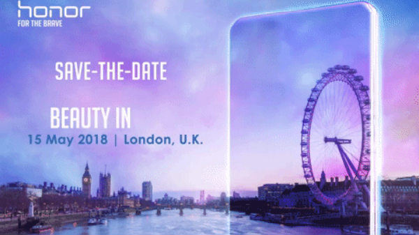 Honor 10 with AI camera slated for May 15 unveiling