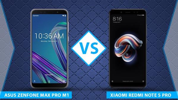 Asus ZenFone Max Pro M1 vs Xiaomi Redmi Note 5 Pro