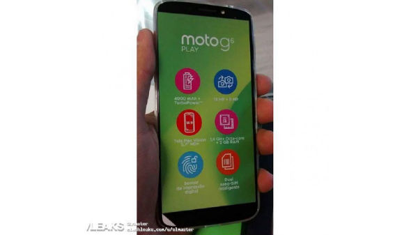 Motorola Moto G6 Play leaked in real life pictures