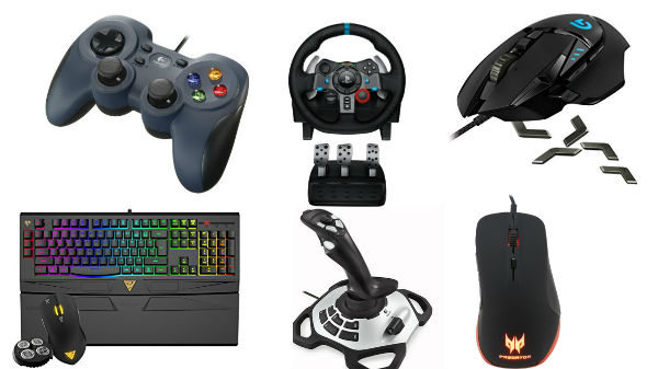 UPTO 50% off on Gaming Accessories: Keyboard, Mouse, wheel Joystick and more
