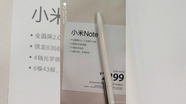 Alleged Xiaomi Mi Note 5 specs and price leak; May 31 launch likely