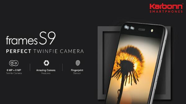 Karbonn Mobiles launches Frames S9