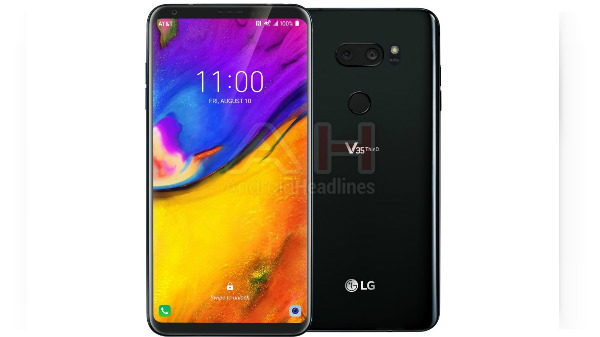 LG V35 ThinQ leaked in renders; tipped to feature an upgraded display