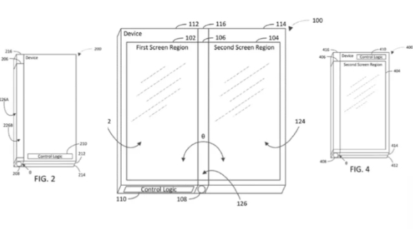 Microsoft files patent for a three-screened device
