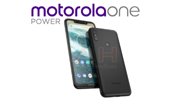 Motorola One Power render with a display notch emerges online