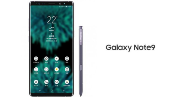 Samsung Galaxy Note 9 render gives us a glance at the design
