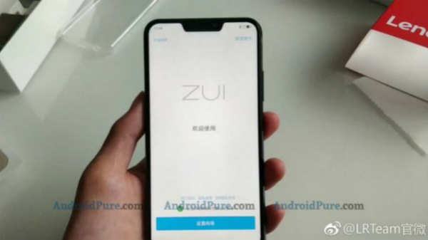Alleged Lenovo Z5 live image shows display notch