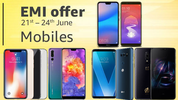 Amazon EMI and cashback offers on LG V30+, Huawei P20 Lite and more