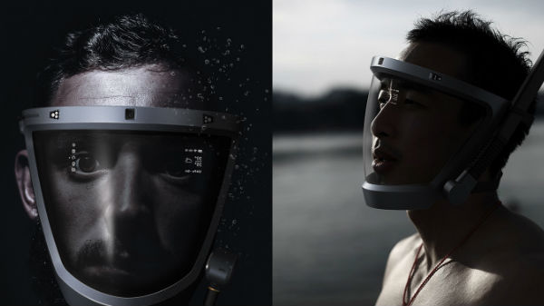 The D-Mask a concept design can be a high-tech mask for diving