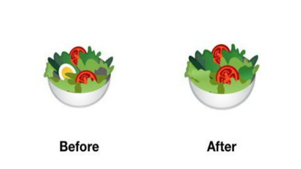 Google is once again in trouble for a salad emoji