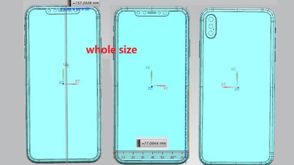 Schematics for Apple iPhone leak suggest a triple-camera setup on back