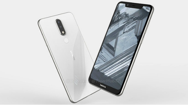 Nokia 5.1 Plus renders show display notch and dual rear cameras