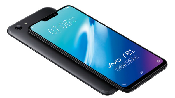 Vivo Y81 with a 19:9 aspect ratio screen and a notch display launched