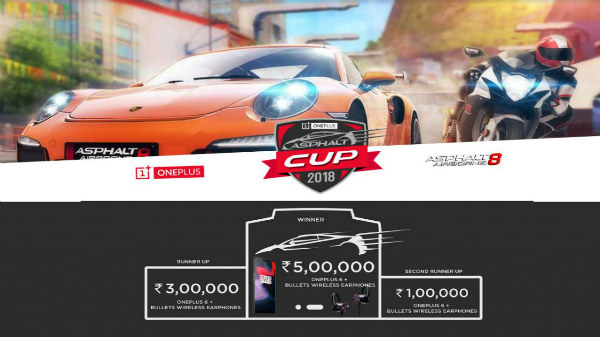 Win up to Rs 5,00,000 cash on OnePlus Asphalt Cup 2018