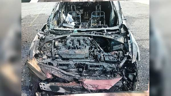 Samsung smartphones destroies a car; report