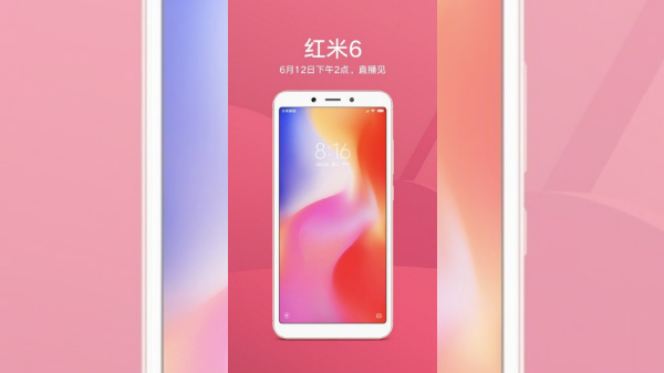 Xiaomi Redmi 6 poster shows front design ahead of its launch