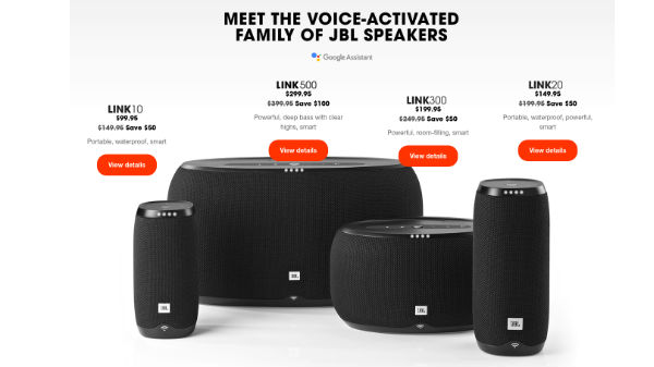 JBL giving hefty discount on its Link voice-activated speakers