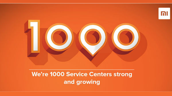 Xiaomi announces its 1000th service center in India