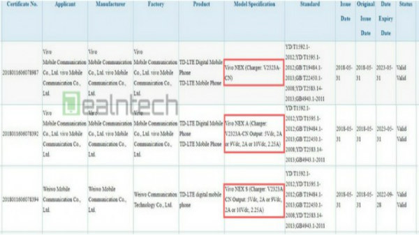 Vivo NEX spotted on 3C listings; to arrive in three variants