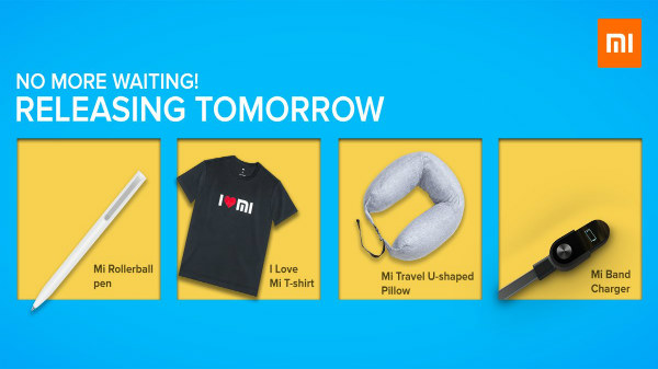 Xiaomi Mi Rollerball Pen, I Love Mi T-Shirt, Travel Pillow launched
