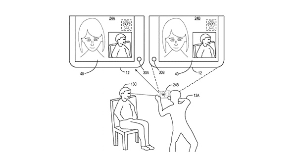 Microsoft has an interesting patent for three-way video calling