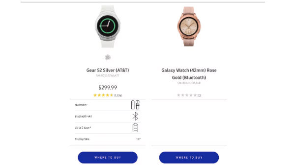 Samsung Galaxy Watch get leaked its own website
