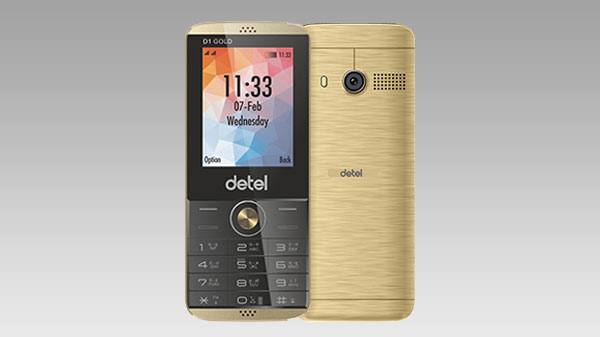 Detel launches first premium feature phone D1 Gold at Rs.999