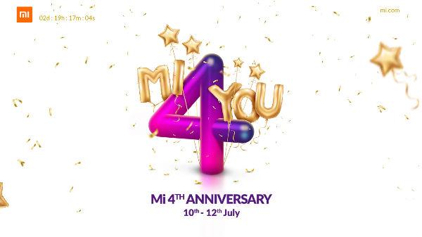 Xiaomi Mi 4th anniversary sale: Grab products at Rs 4 flash sales