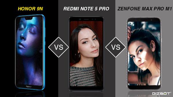Honor 9N vs Xiaomi Redmi Note 5 Pro vs Asus ZenFone Max Pro