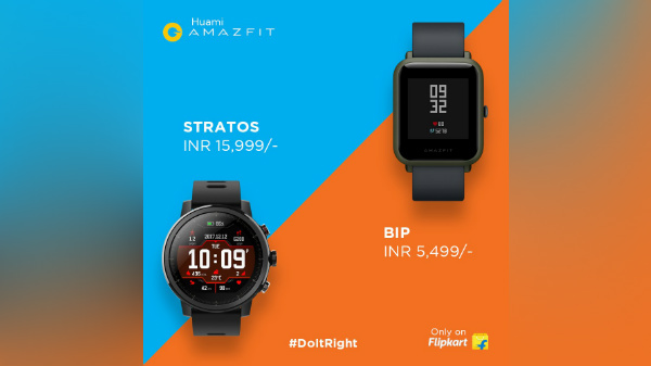 Huami Amazfit Bip and Stratos smartwatches launched; price starts at Rs. 5,499
