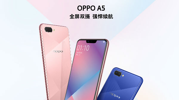 Oppo launches A5 with 4230mAh battery, top notch and more