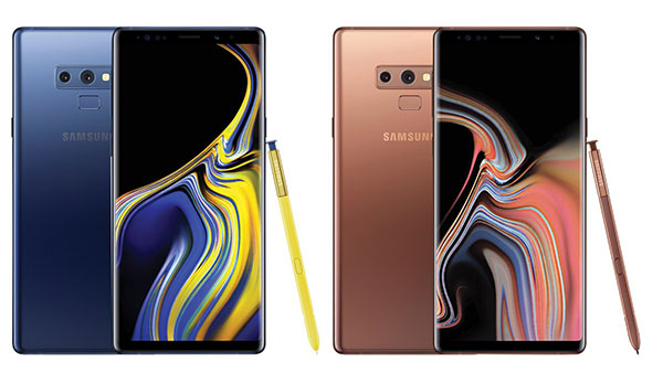 Samsung Galaxy Note9 will be available in three colors