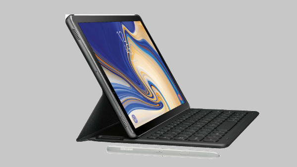 Samsung Galaxy Tab S4 with optional keyboard and S Pen surfaced on web