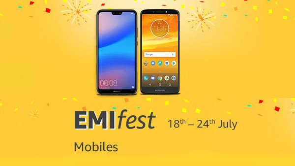 Amazon India EMI Fest: Grab OnePlus 6, Realme 1 and more at 10
