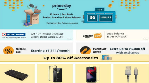 Amazon Prime Day Sale: Here's all offers you can avail