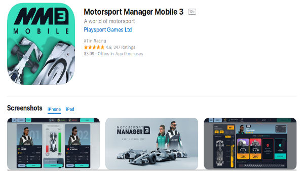 How and why should you download the Motorsports Manager 3 on Android and iOS devices
