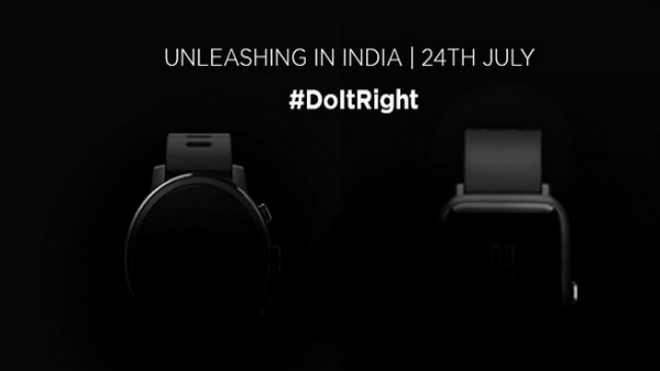 Huami is all set to launch its first smartwatch in India on 24th July