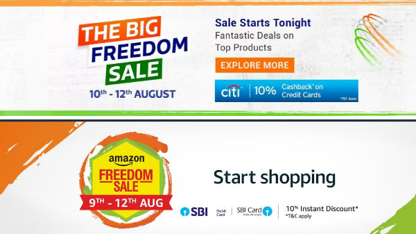 Amazon and Flipkart Freedom Sale offers on Laptops