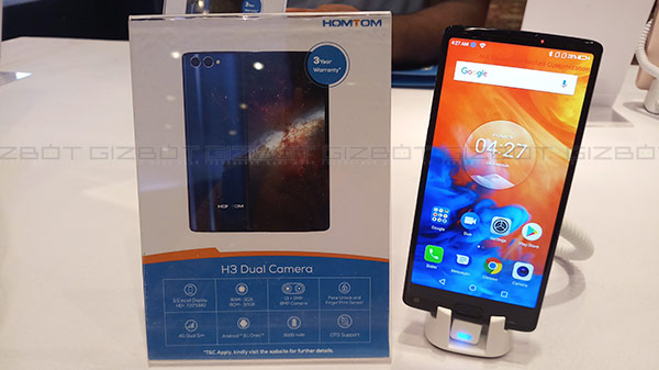 Homtom debuts in India, launches three products