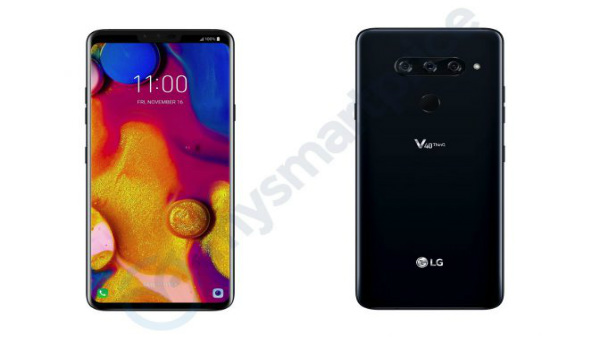 LG V40 ThinQ renders leaked: 5 cameras, notch display and more
