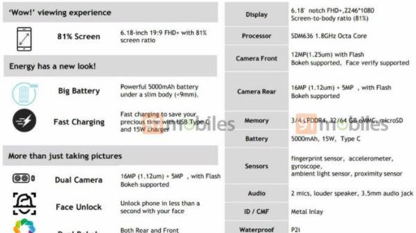 Motorola One Power complete specs, features and render leak