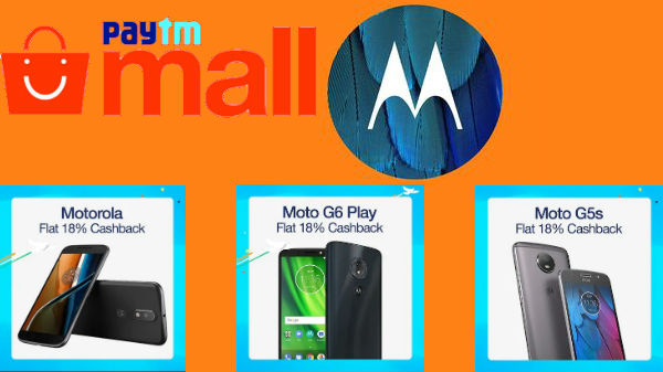 PayTM Mall Independence Day Sale on Motorola smartphones