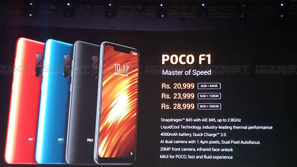 Poco F1 flash sale today in India at 12pm: Price and specification