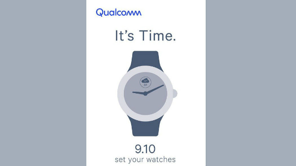 Qualcomm teases a new smartwatch launch for September 10