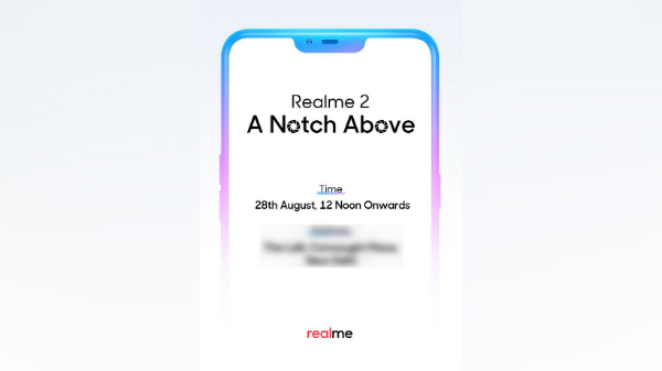 Realme 2 India launch pegged for August 28