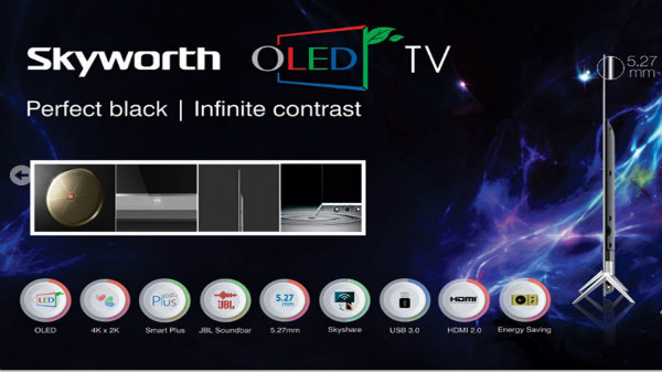 Skyworth teases a new 65-inch smart OLED television launch in India