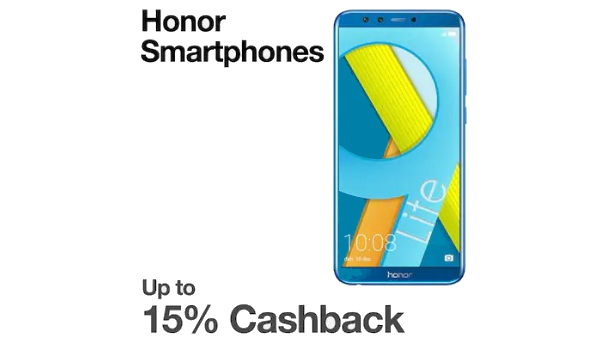 Paytm Mall offers up to 15% cashback on Honor smartphones