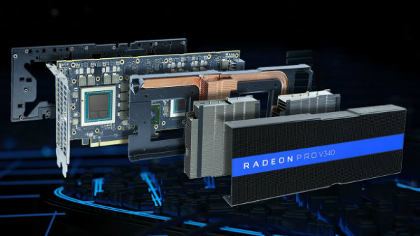 AMD Unveils Radeon Pro V340 Dual-GPU Graphics Card with 32 GB memory