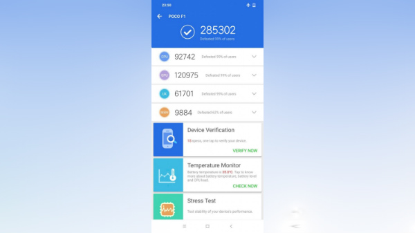 Xiaomi Pocophone F1 visits AnTuTu database; online store reveals specs