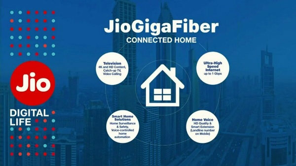 Jio GigaFiber to offer broadband, landline, TV services at Rs. 600